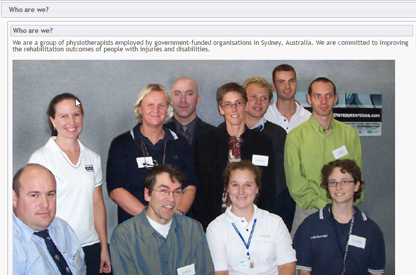The Physiotherapists behind the site, from Sydney Australia