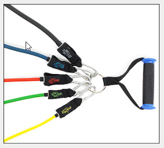Clip On Handles With Multiple Resistance Bands Attached